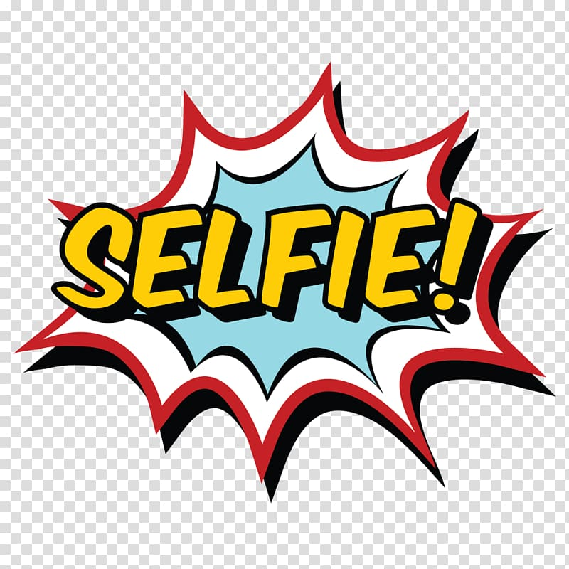 Selfie painting, Pop art Sticker Comics, others transparent.