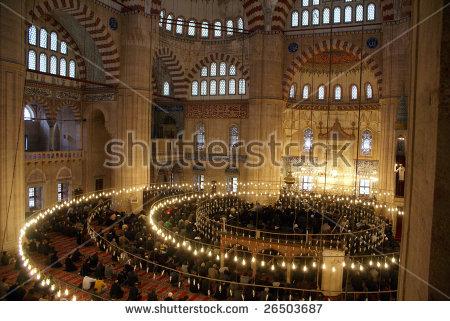 Friday Namaz In Selimiye Mosque In Rdirne, Turkey Stock Photo.