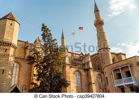 Stock Photography of Selimiye Mosque, formerly St. Sophia.