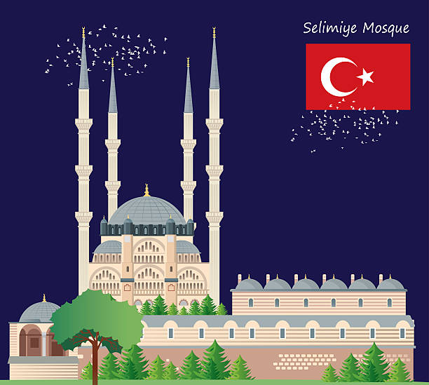 Selimiye Mosque Clip Art, Vector Images & Illustrations.