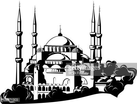 Selimiye Mosque Stock Illustration.