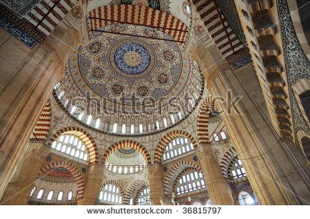 Inside Of Selimiye Mosque In Edirne Stock Photo 36815797.