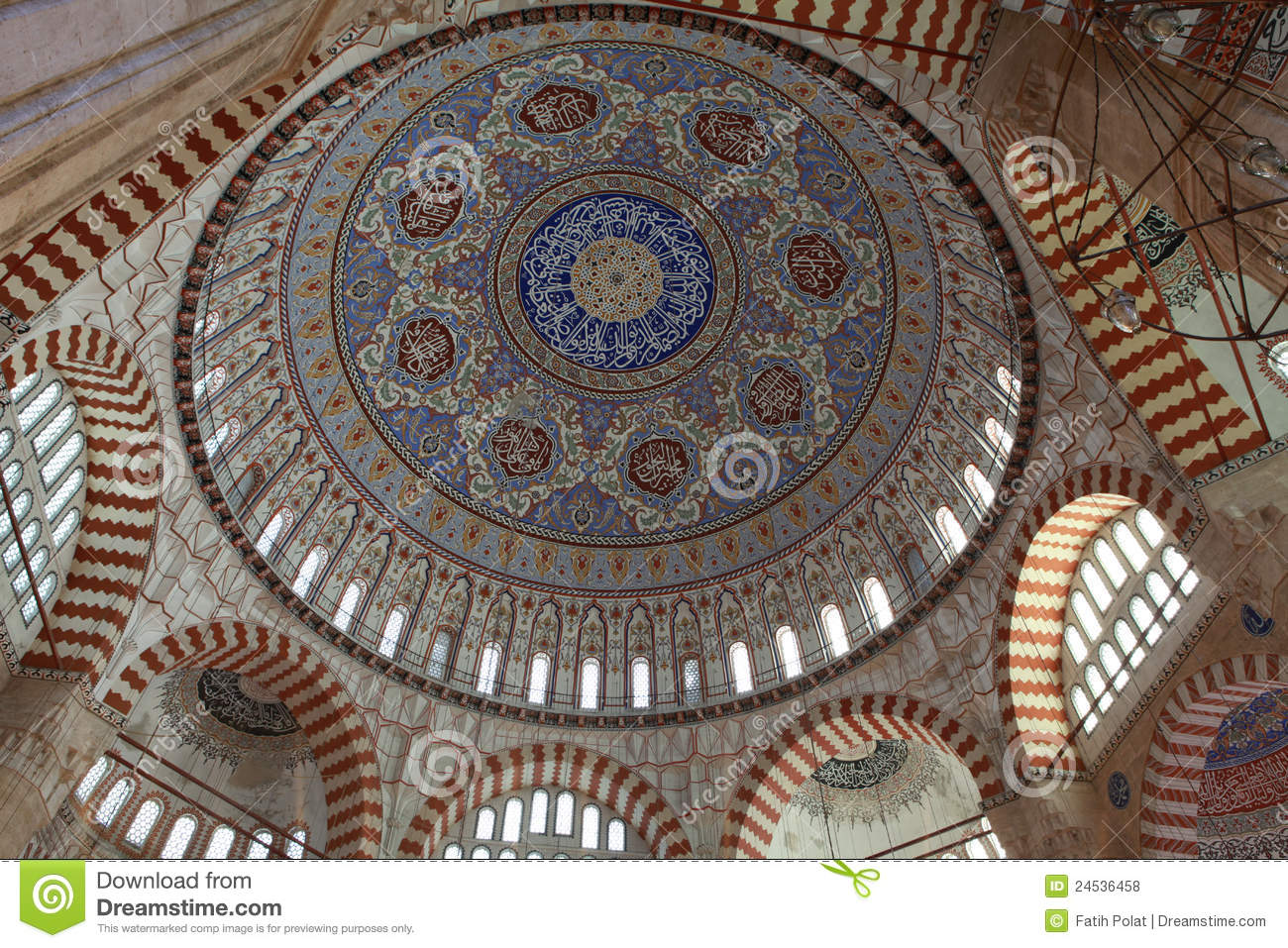 Dome Of Selimiye Mosque, Edirne. Stock Images.