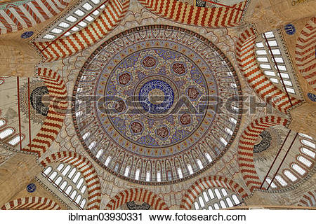 "Stock Photography of ""Main dome of Selimiye Mosque, built by Mimar."