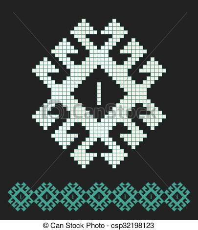 Vector Illustration of Seljuk pattern csp32198123.