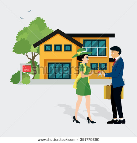 Conflict Over Real Estate Sell Eviction Stock Vector 140856880.