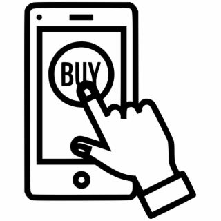 Online Store Buy Sell Product Hand Gesture Ⓒ.