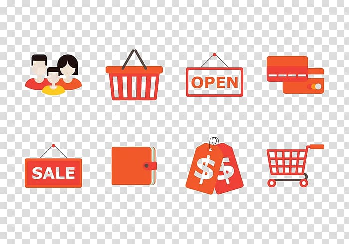 Shopping cart Icon, Consumers sell shopping carts.