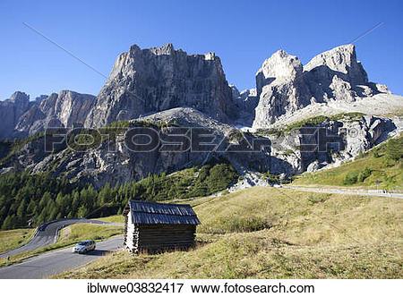 "Picture of ""Gardena Pass, Sella Group, Dolomites, Alto Adige."