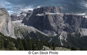 Stock Images of Sella Group, Vallon.