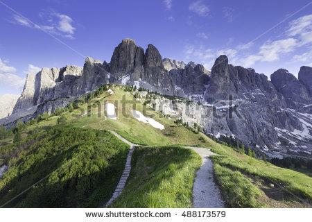 "sella Mountain Massif"" Stock Photos, Royalty."