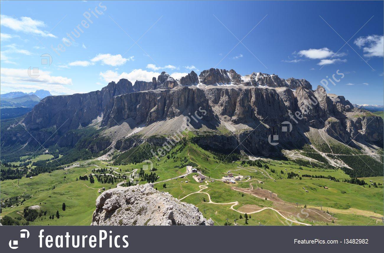 Landscapes: Gruppo Sella And Passo Gardena.