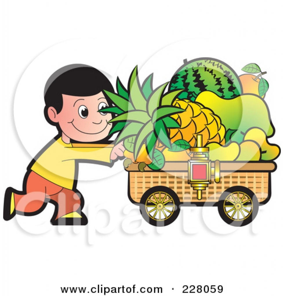 Fruit seller clipart.