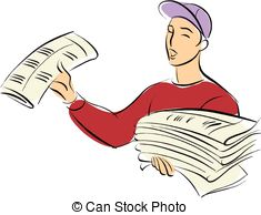 Newspaper seller Stock Illustration Images. 591 Newspaper seller.