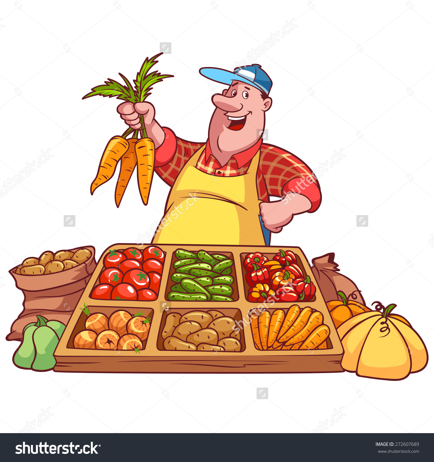 Vegetable Seller Clipart.
