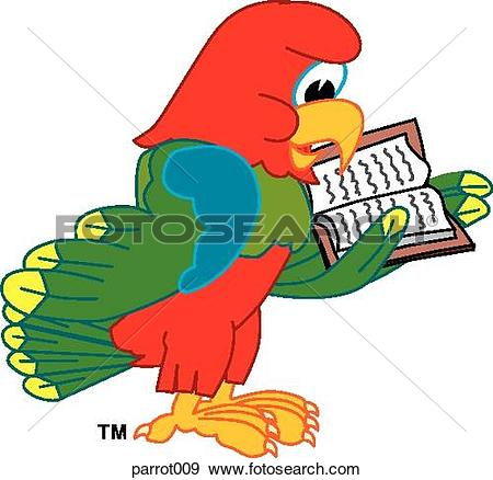 Clipart of Parrot Singing parrot011.