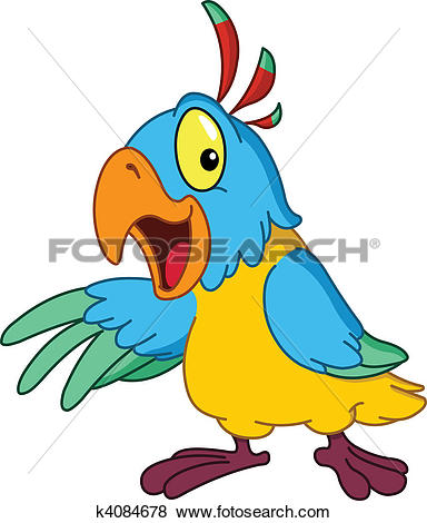 Clip Art of Presenting parrot k4084678.