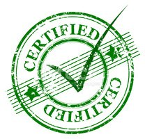 Sello Certificado Con Marca DE Verificación En SU Centro.