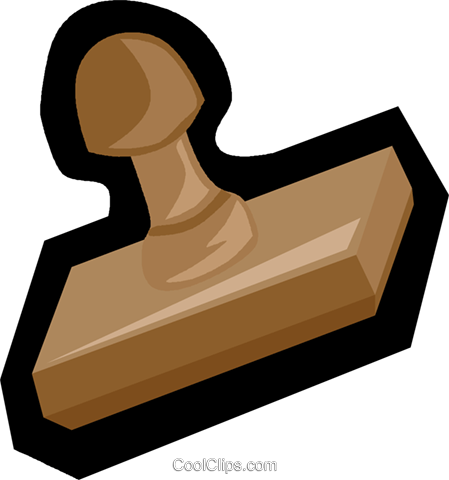 rubber stamp Royalty Free Vector Clip Art illustration.