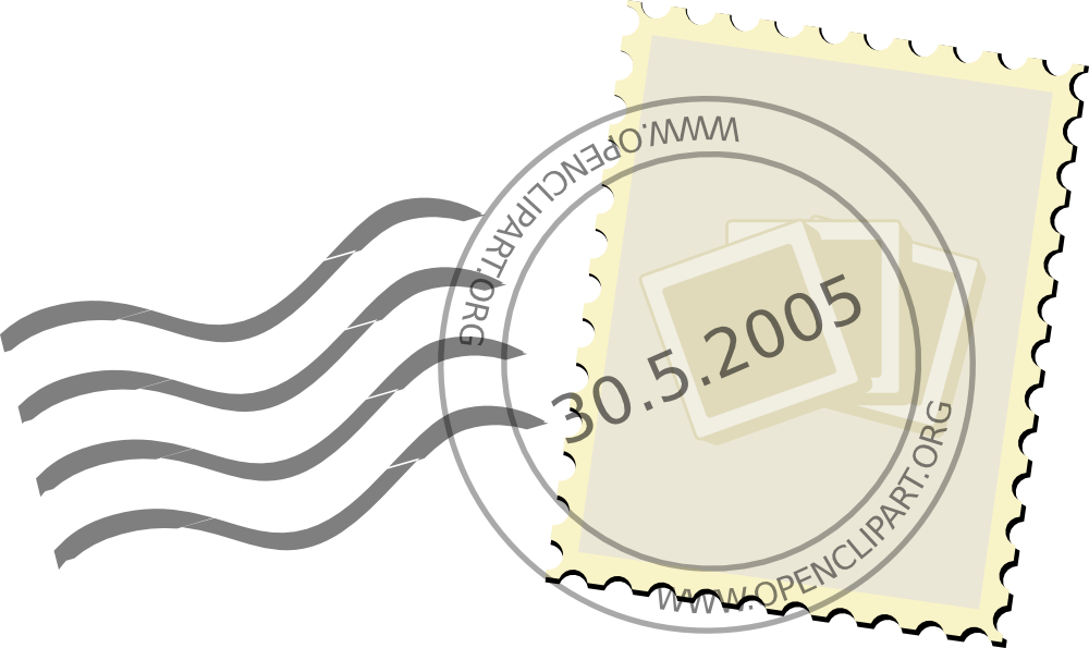 Sello Postal Vintage Vector Png , Transparent Cartoon.