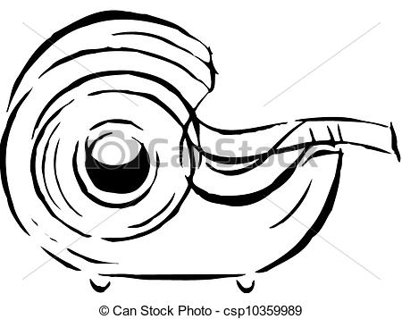 Stock Illustration of Drawing of a tape dispenser csp10359989.