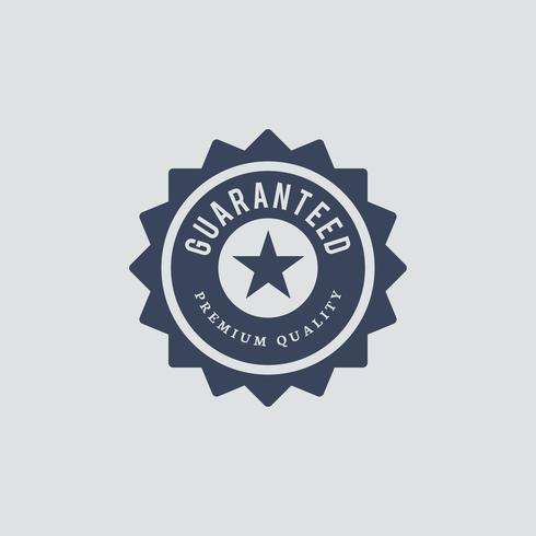 Ilustração do selo de qualidade premium garantida.