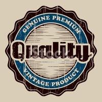 Selo DE Qualidade Vintage imagens vetoriais.