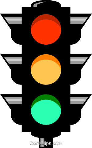 Traffic lights Royalty Free Vector Clip Art illustration.