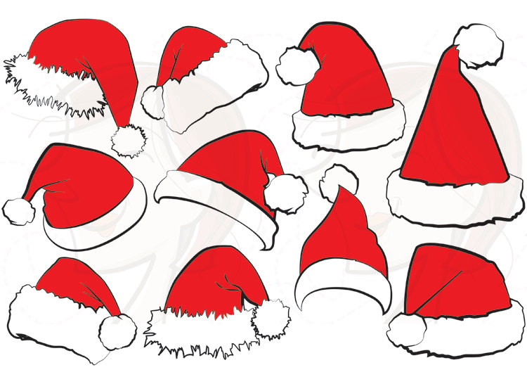 Similar To 10 Santa Claus Hat Clip Art Christmas Santa Hat Clipart.