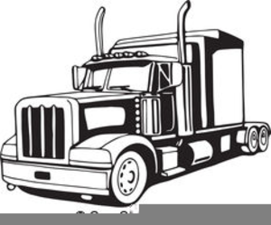 Semi Truck Vector Clipart.