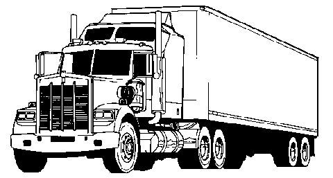 Semi Truck Clip Art Black And White : Free Printable Black.