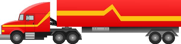 Semi Truck Silhouette Clipart.