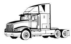 Semi trucks clipart.