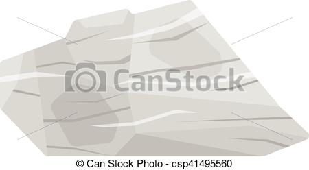 Clip Art Vector of Mineral stone vector isolated.
