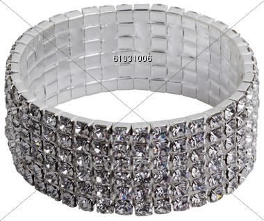 Stock Photo Wide Bracelet With Semi.