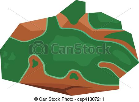 Vector Clip Art of Mineral stone vector isolated.