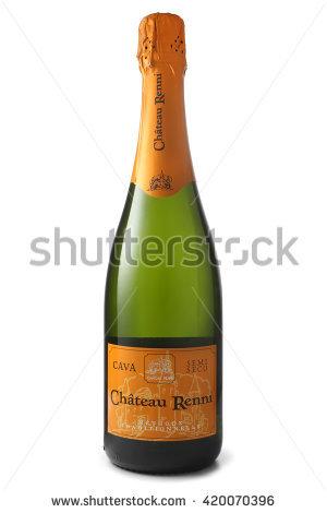 Cava Bottle Stock Photos, Royalty.
