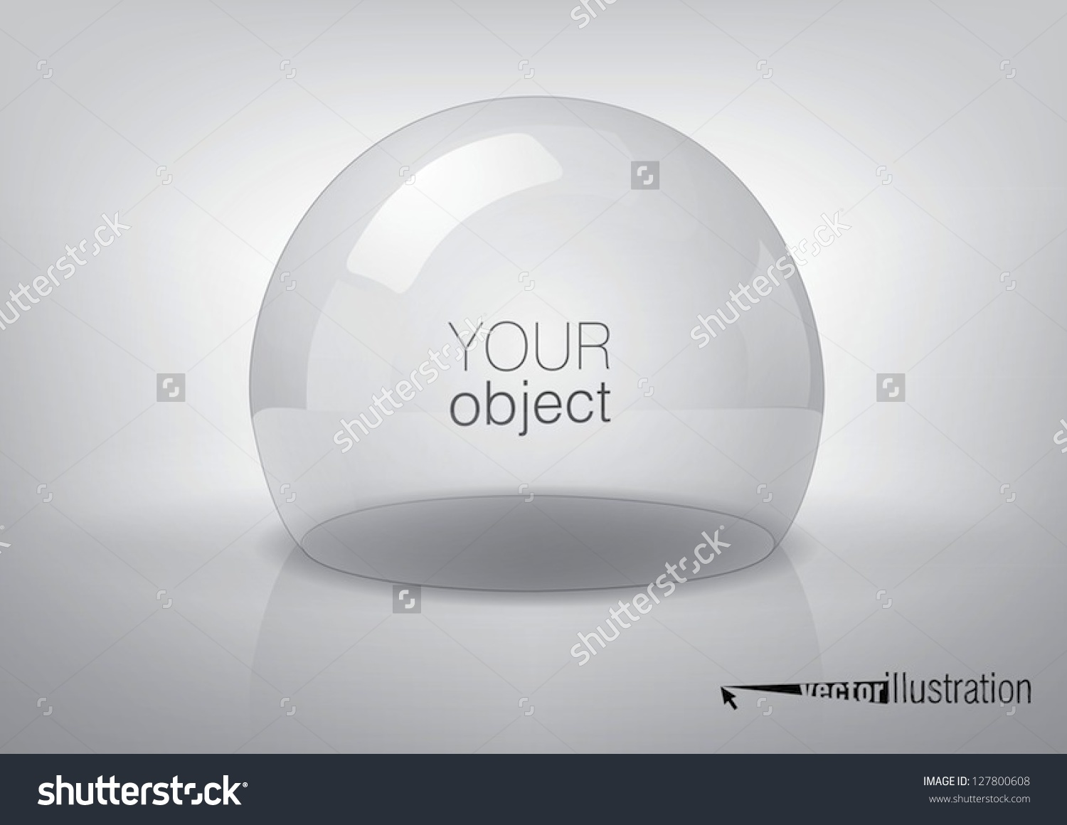 Vector Transparent Semisphere Specks Light Reflections Stock.