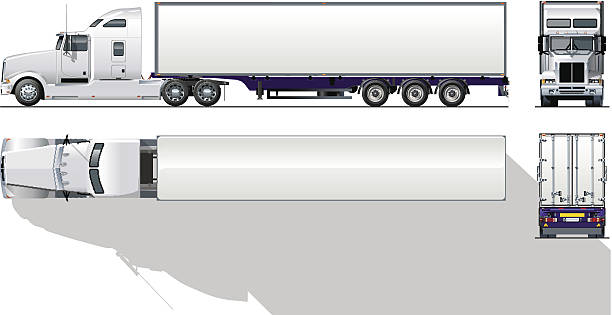 Semi trailer clipart 2 » Clipart Station.