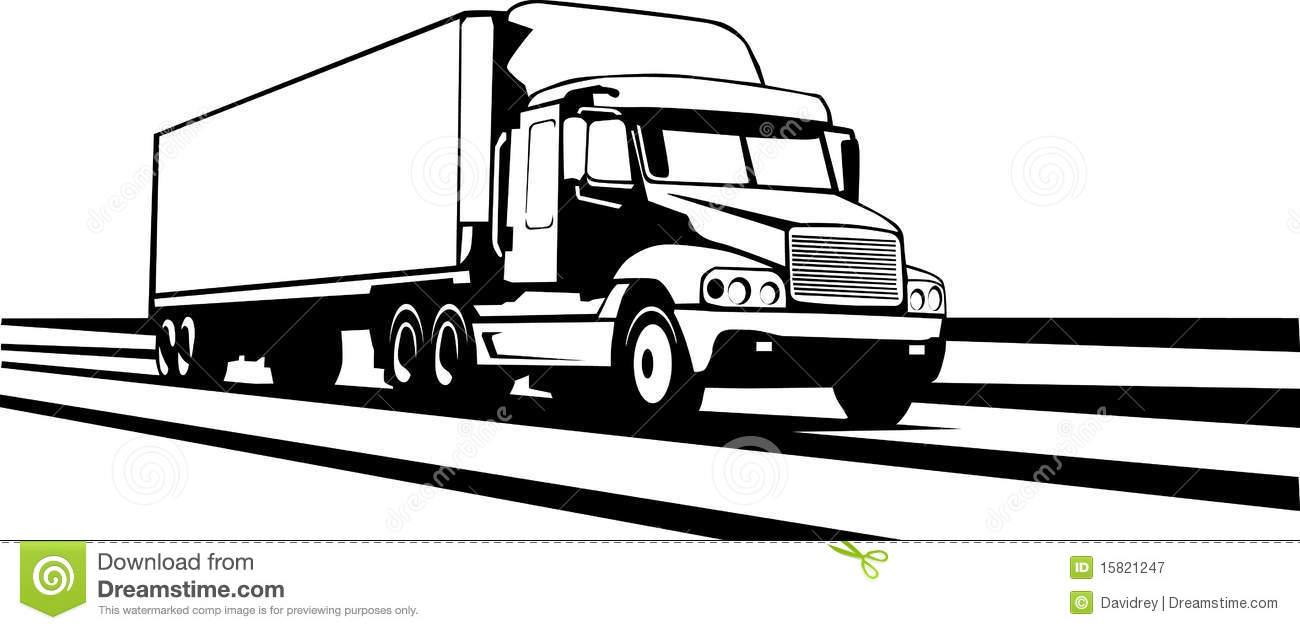 Clipart semi trailer.