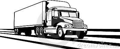 Similiar Clip Art Of A Semi Truck On Highway Keywords.