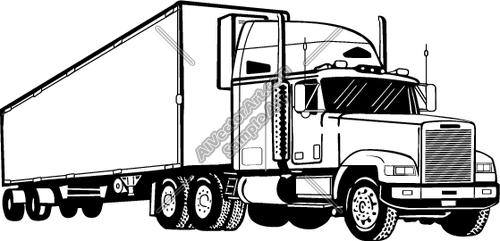 semi truck drawings.
