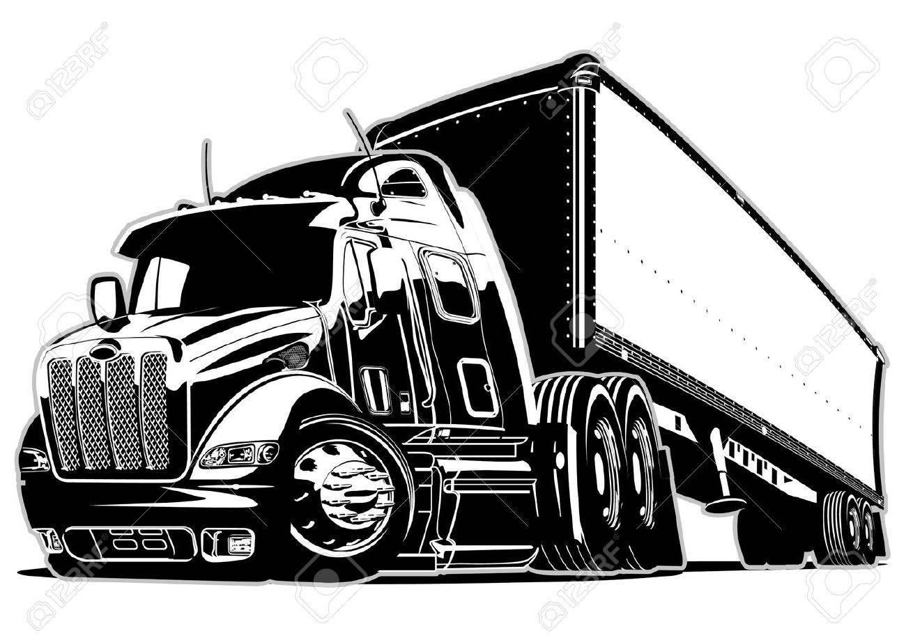 Semi truck clipart vector » Clipart Portal.