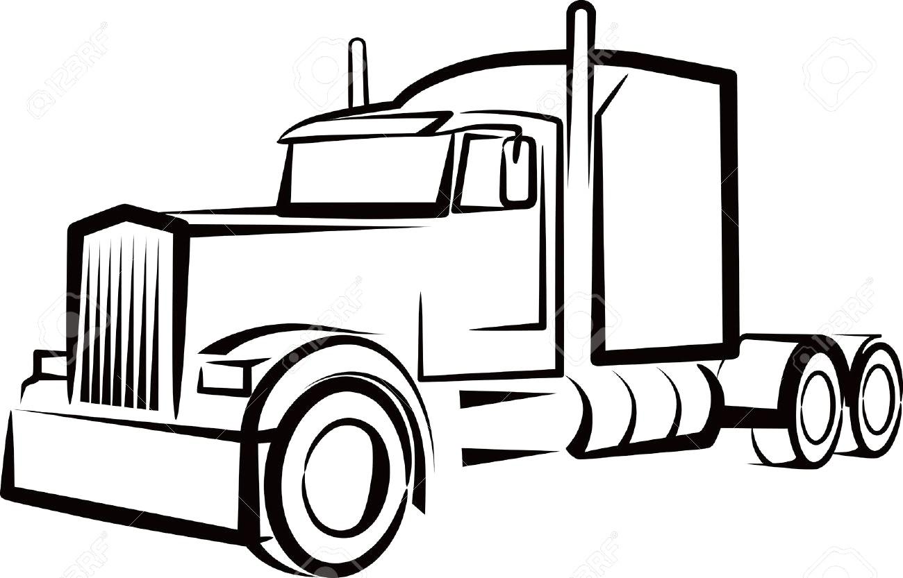 Semi truck clipart free 1 » Clipart Station.