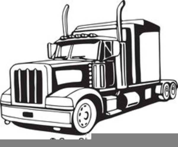 Semi Truck Vector Clipart.