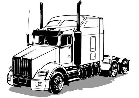 Semi truck clipart black and white 4 » Clipart Station.