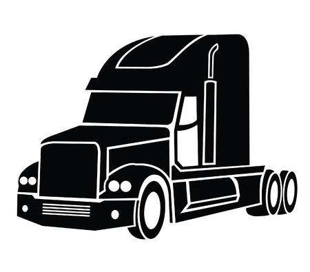 Semi Truck Clipart Black And White (104+ images in.