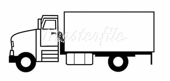 8+ Truck Clipart Black And White.
