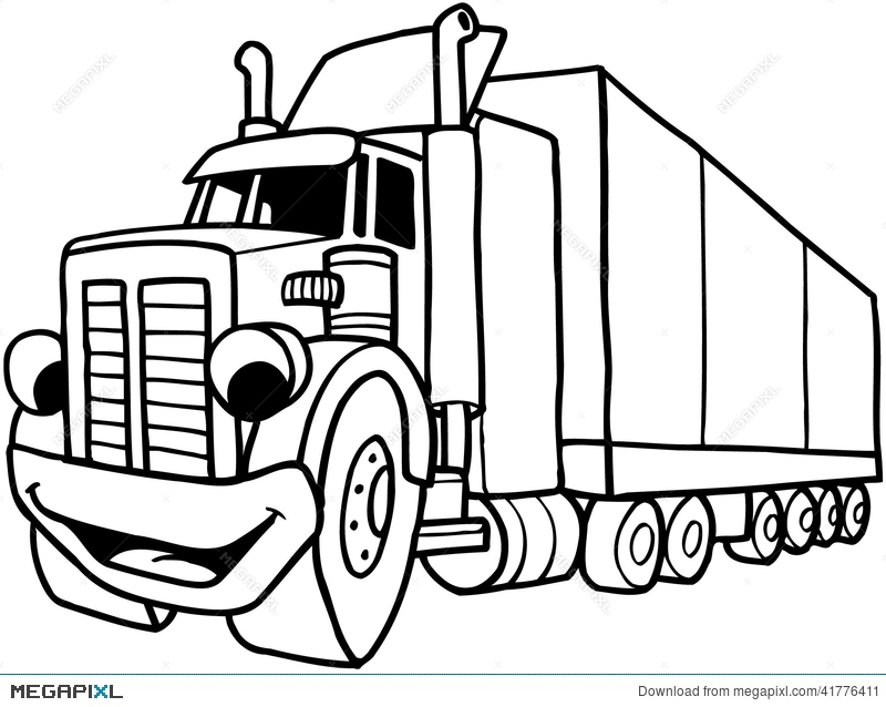 Black and white cartoon semi truck clipart 3 » Clipart Station.