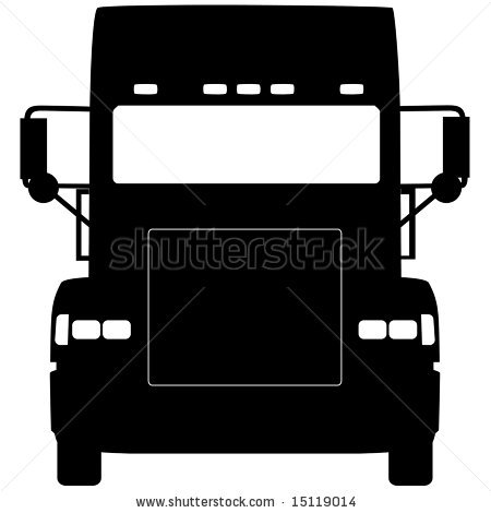 truck front silhouette.